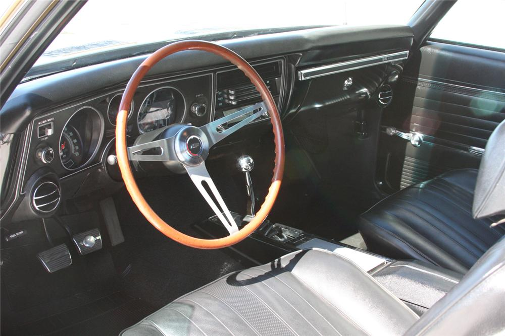 1969 CHEVROLET CHEVELLE SS 396 COUPE - Interior - 70890
