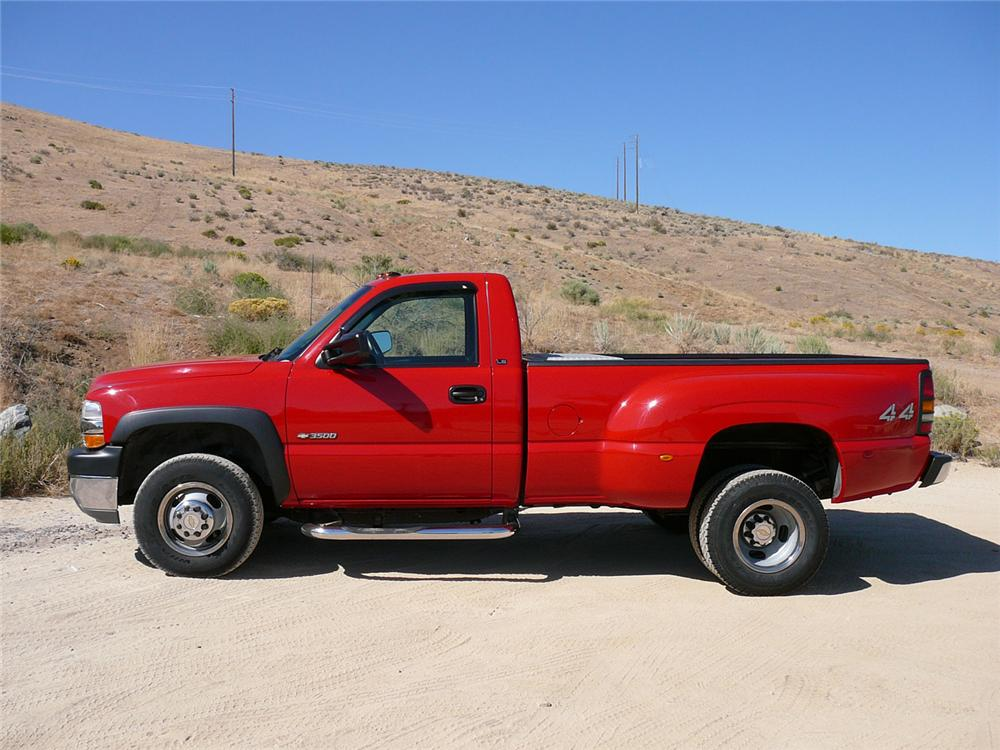 2001 CHEVROLET 3500 LS 4X4 DUALLY PICKUP - Side Profile - 70892