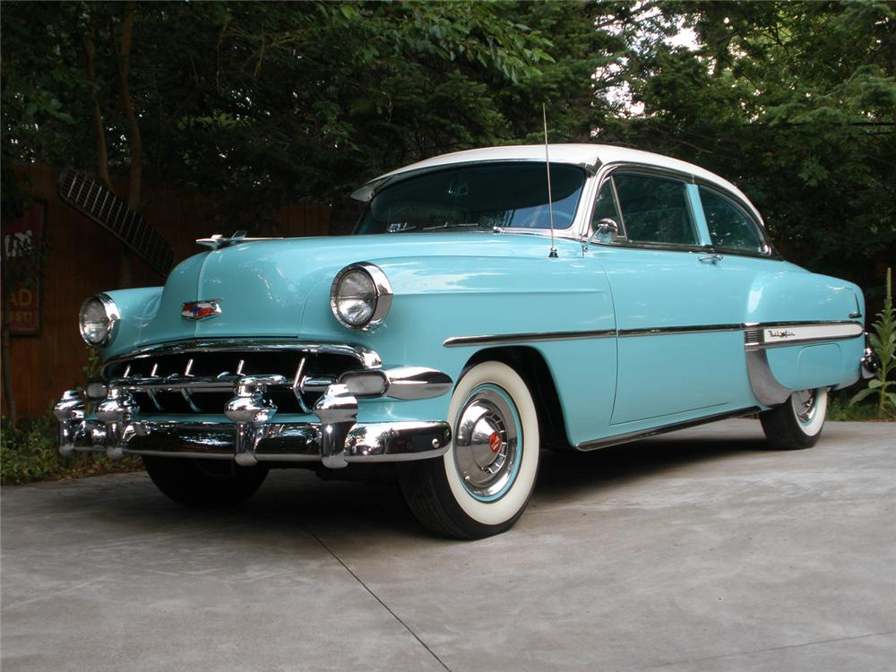 1954 CHEVROLET BEL AIR 2 DOOR SEDAN - Front 3/4 - 70909