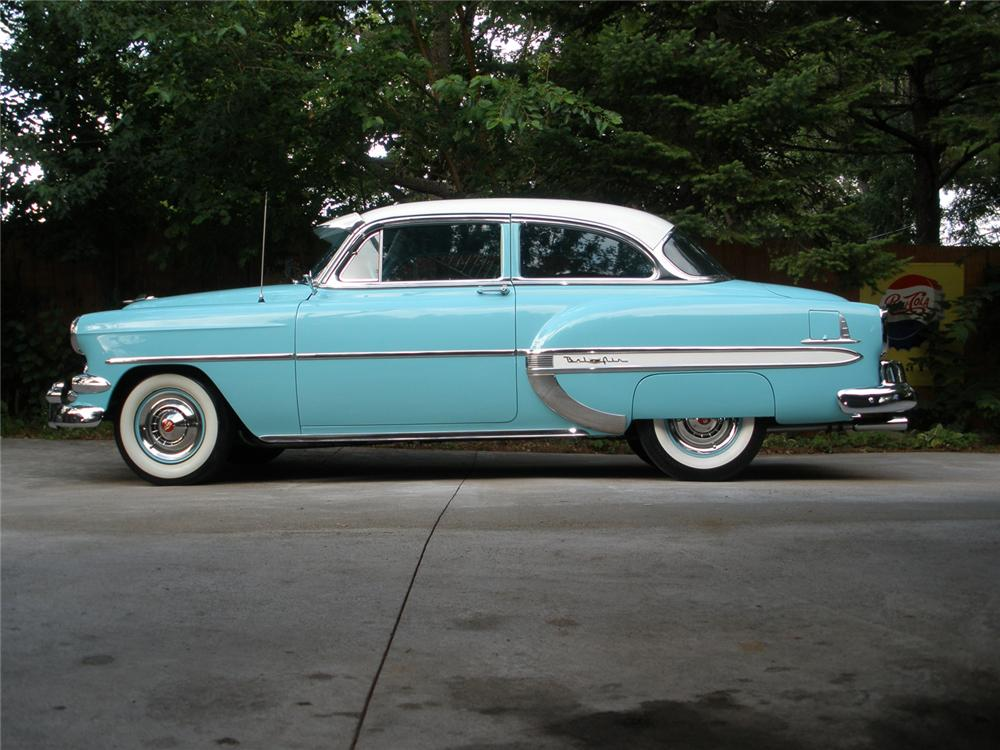 1954 CHEVROLET BEL AIR 2 DOOR SEDAN - Side Profile - 70909