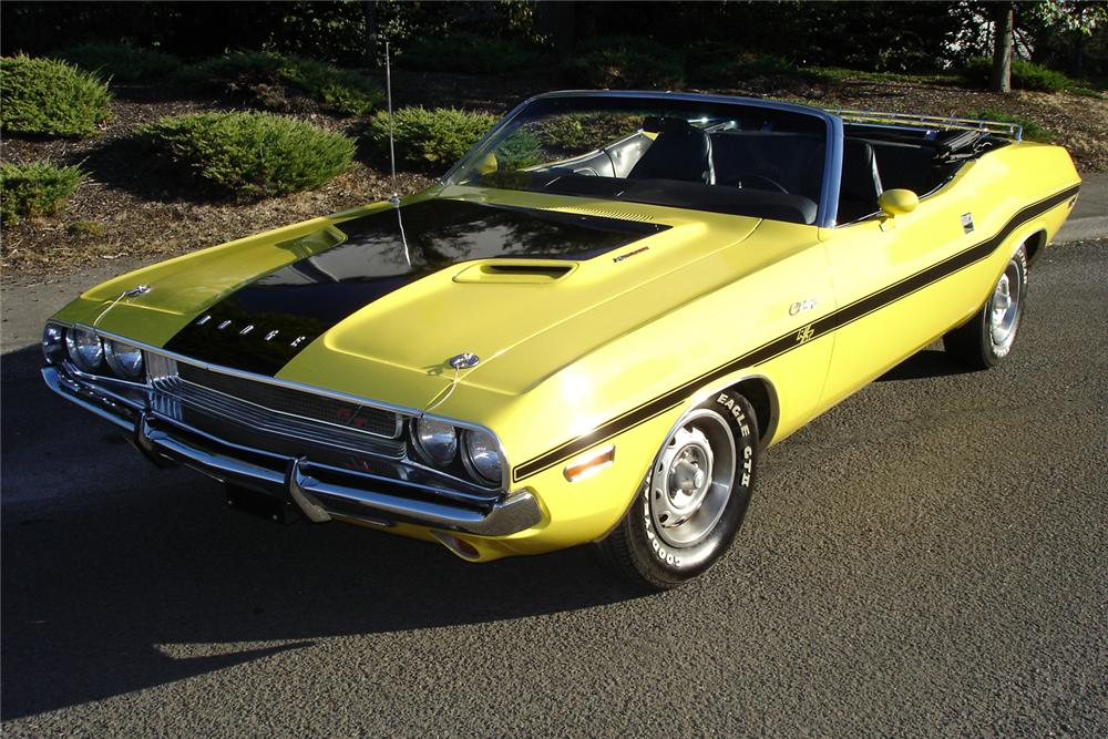 1970 DODGE CHALLENGER CONVERTIBLE - Front 3/4 - 70920