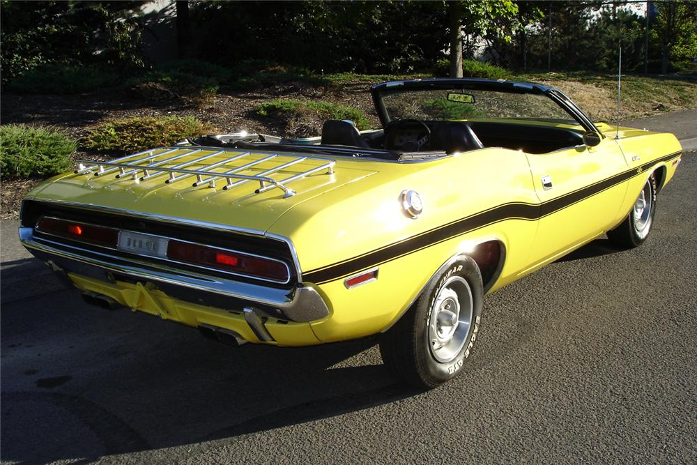 1970 DODGE CHALLENGER CONVERTIBLE - Rear 3/4 - 70920