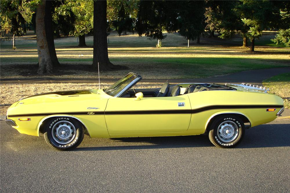 1970 DODGE CHALLENGER CONVERTIBLE - Side Profile - 70920