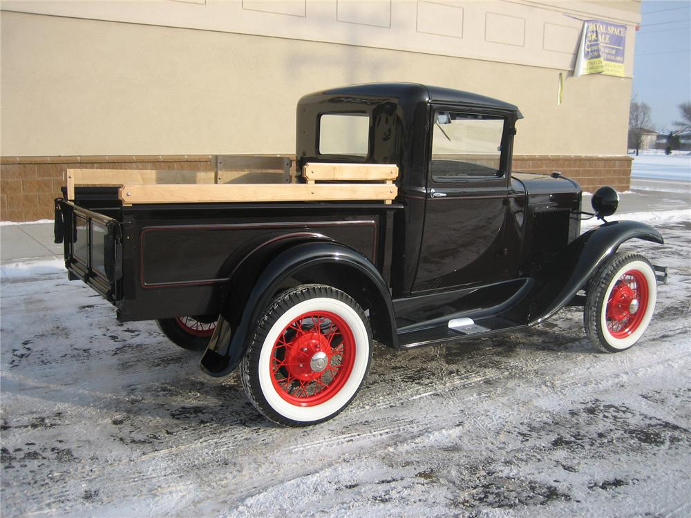 1931 FORD MODEL A PICKUP - Rear 3/4 - 70924