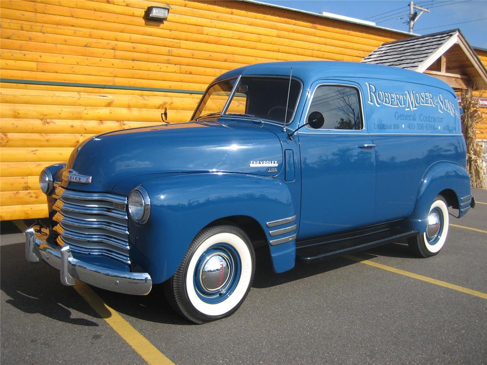 1949 CHEVROLET PANEL TRUCK   - Front 3/4 - 70926