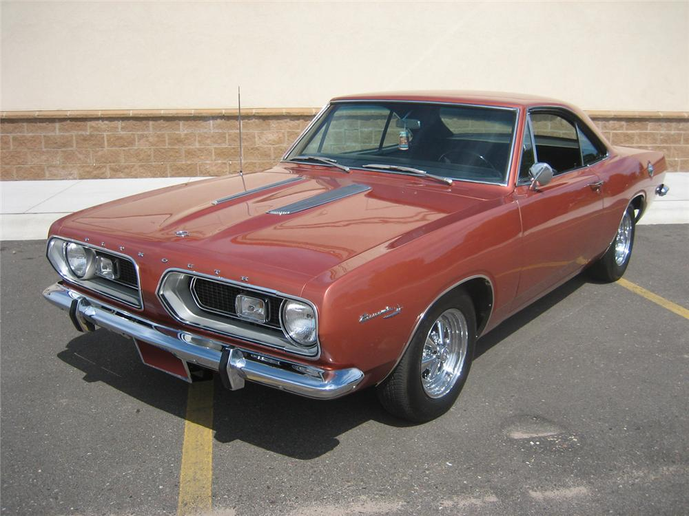 1967 PLYMOUTH BARRACUDA SPORT COUPE - Front 3/4 - 70928