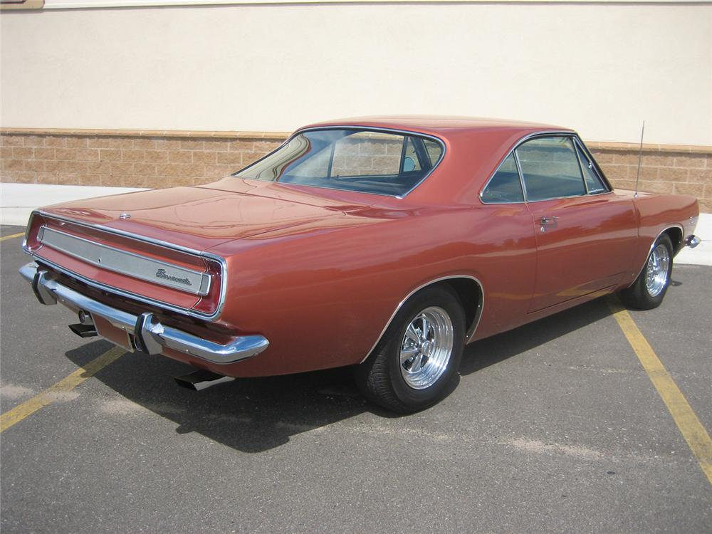 1967 PLYMOUTH BARRACUDA SPORT COUPE - Rear 3/4 - 70928