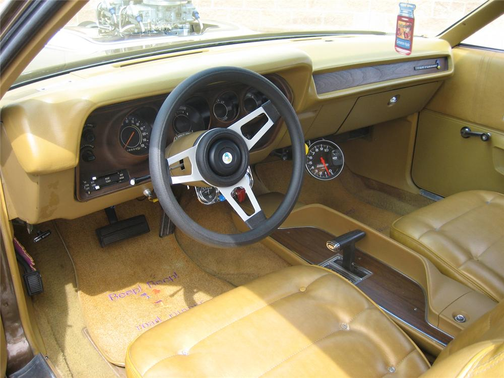 1973 PLYMOUTH ROAD RUNNER 2 DOOR CUSTOM HARDTOP - Interior - 70929