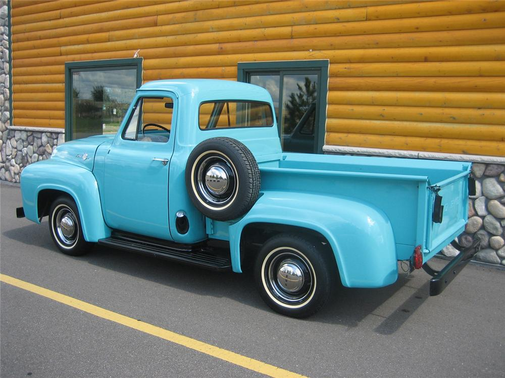 1955 FORD F-100 1/2 TON PICKUP - Rear 3/4 - 70931
