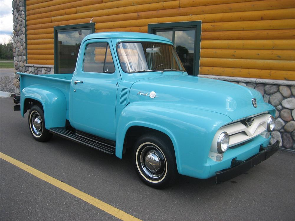 1955 FORD F-100 1/2 TON PICKUP - Side Profile - 70931
