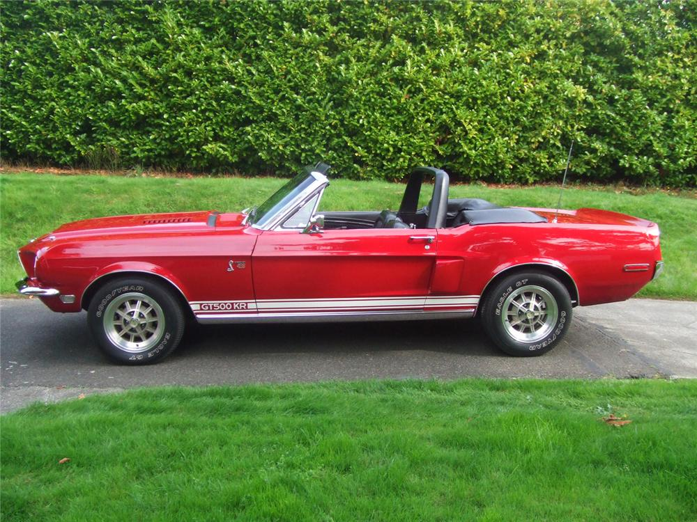 1968 SHELBY GT500 KR CONVERTIBLE - Side Profile - 70936