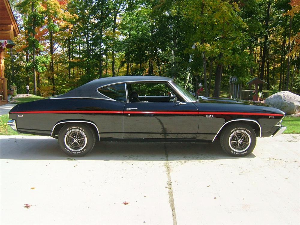 1969 CHEVROLET CHEVELLE SS 396 2 DOOR COUPE - Side Profile - 70951