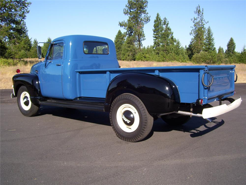 1954 GMC 250 1 TON PICKUP - Rear 3/4 - 70966