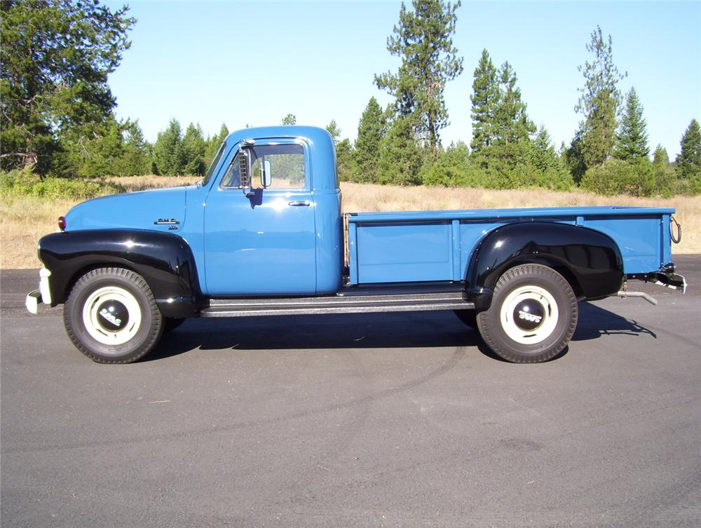 1954 GMC 250 1 TON PICKUP - Side Profile - 70966