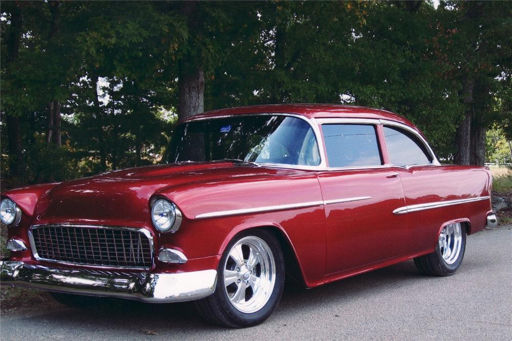 1955 chevrolet bel air custom 2 door sedan 70968 for 1955 chevy bel air 4 door