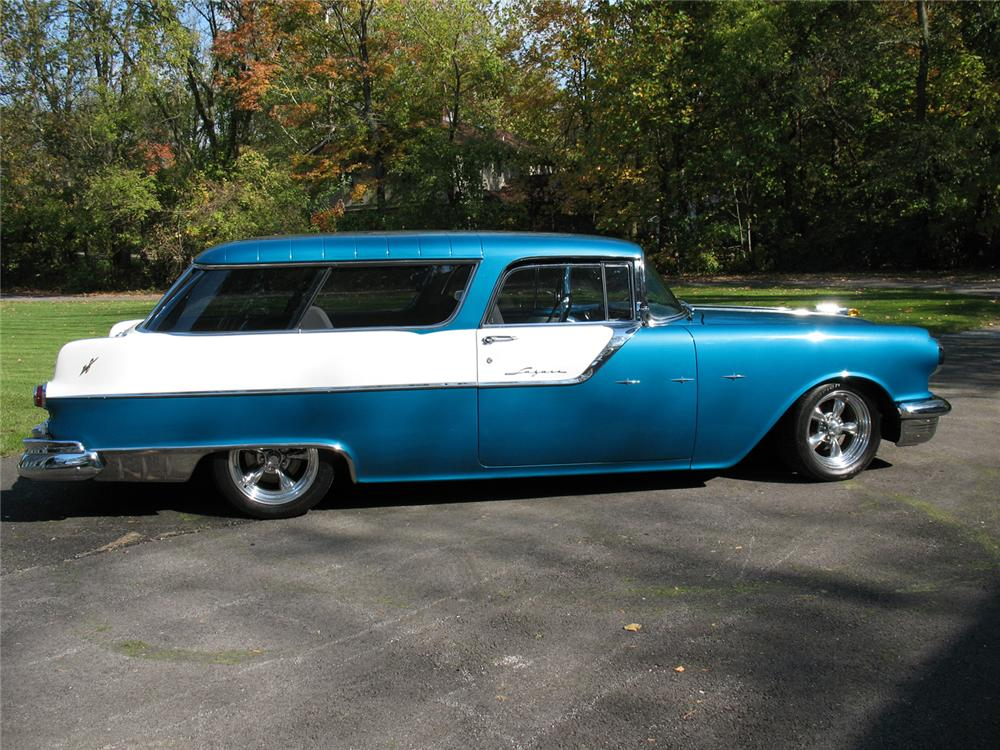 1955 PONTIAC SAFARI CUSTOM STATION WAGON - Side Profile - 70980