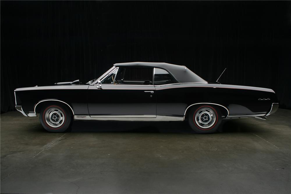 1967 PONTIAC GTO CONVERTIBLE - Side Profile - 70985