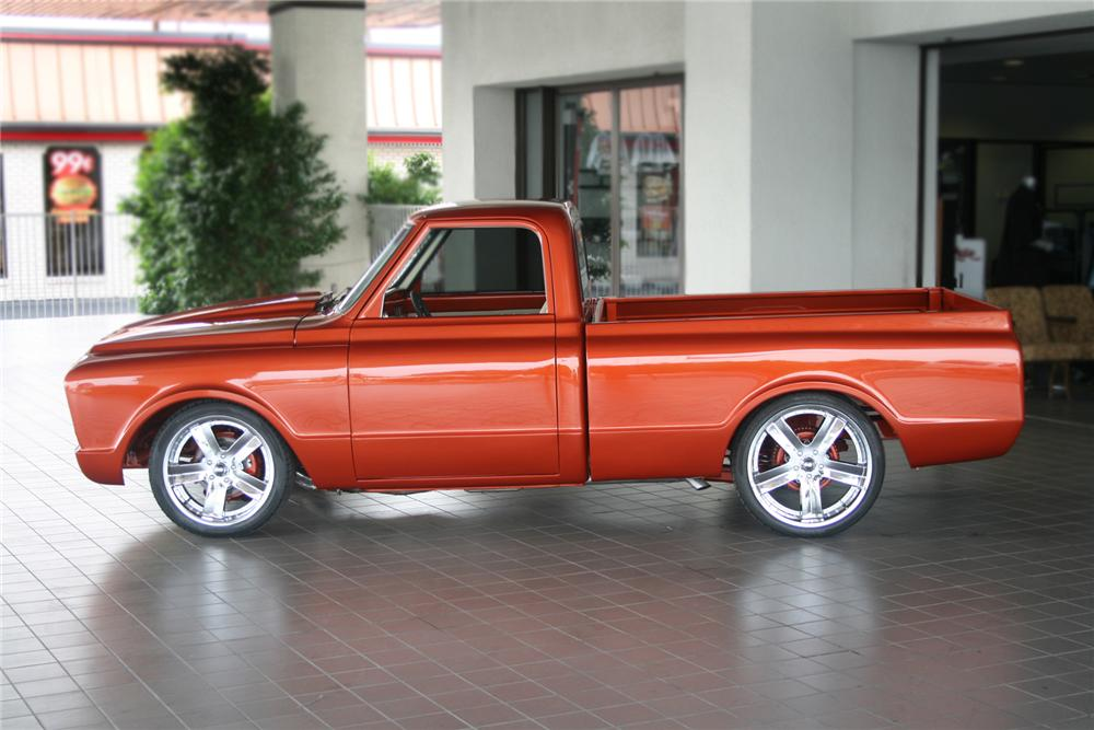 1972 CHEVROLET C-10 CUSTOM PICKUP - Side Profile - 70990