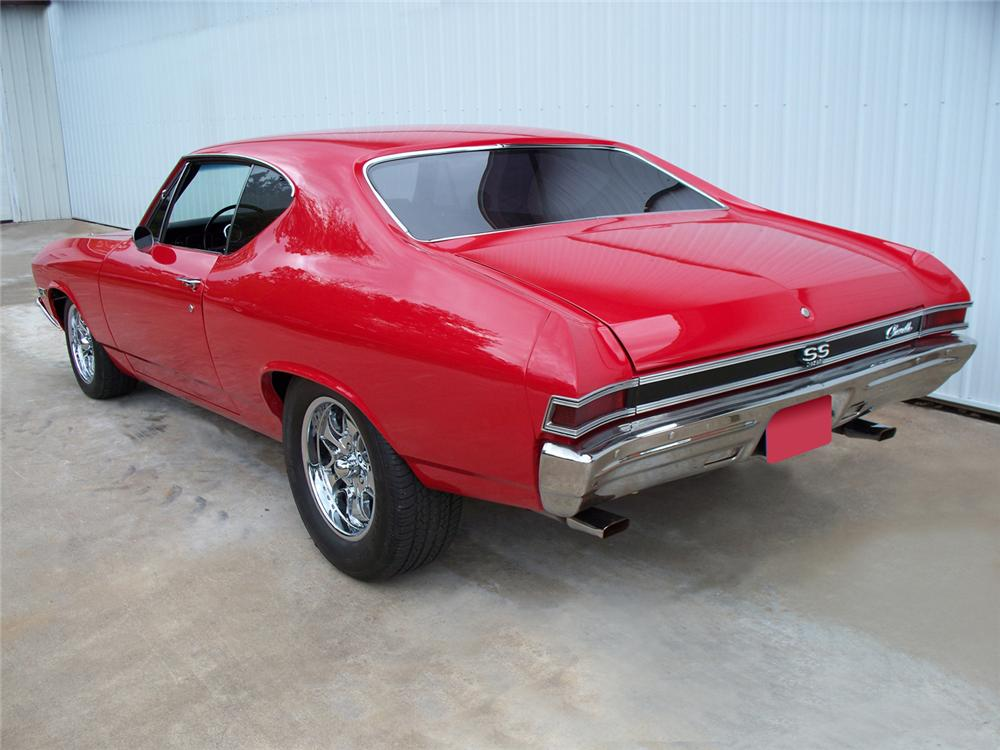 1968 CHEVROLET CHEVELLE SS CUSTOM 2 DOOR HARDTOP - Rear 3/4 - 71014