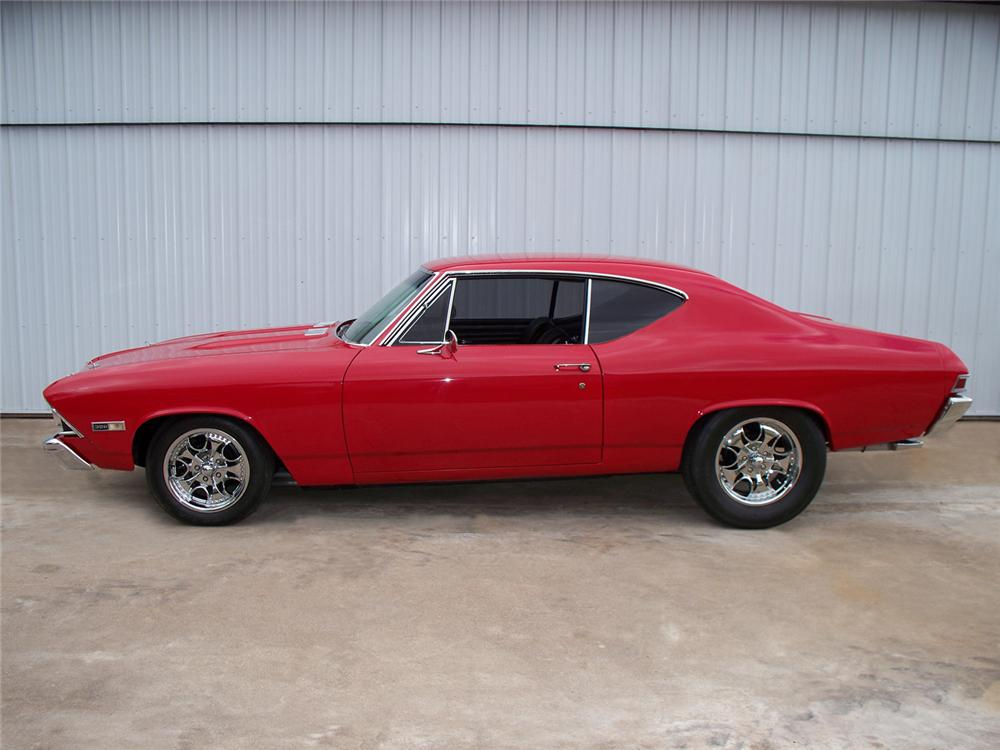 1968 CHEVROLET CHEVELLE SS CUSTOM 2 DOOR HARDTOP - Side Profile - 71014