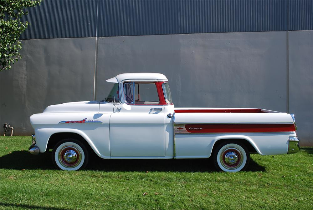1958 CHEVROLET CAMEO CARRIER PICKUP - Side Profile - 71036