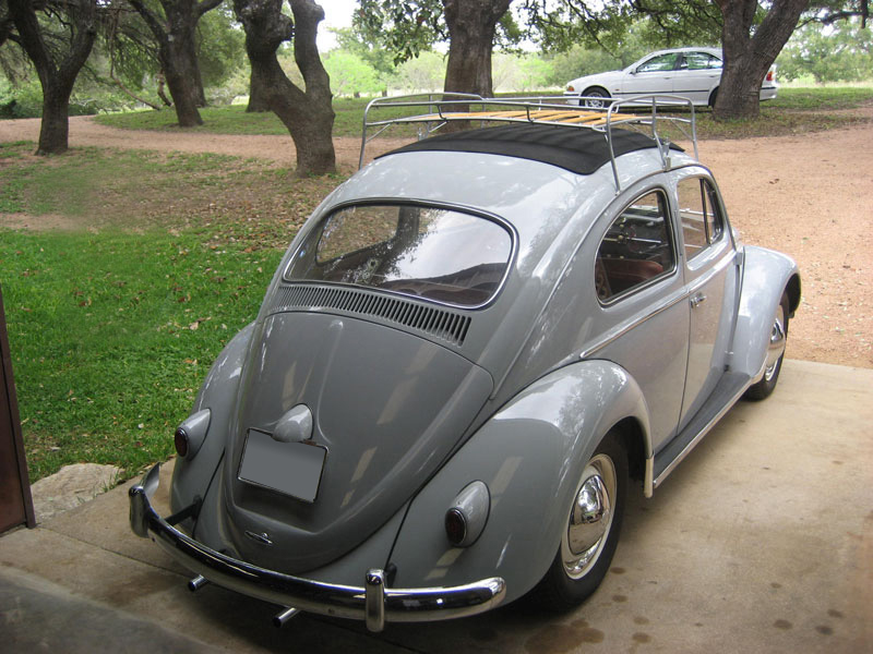1959 VOLKSWAGEN BEETLE SUNROOF RAGTOP - Rear 3/4 - 71039