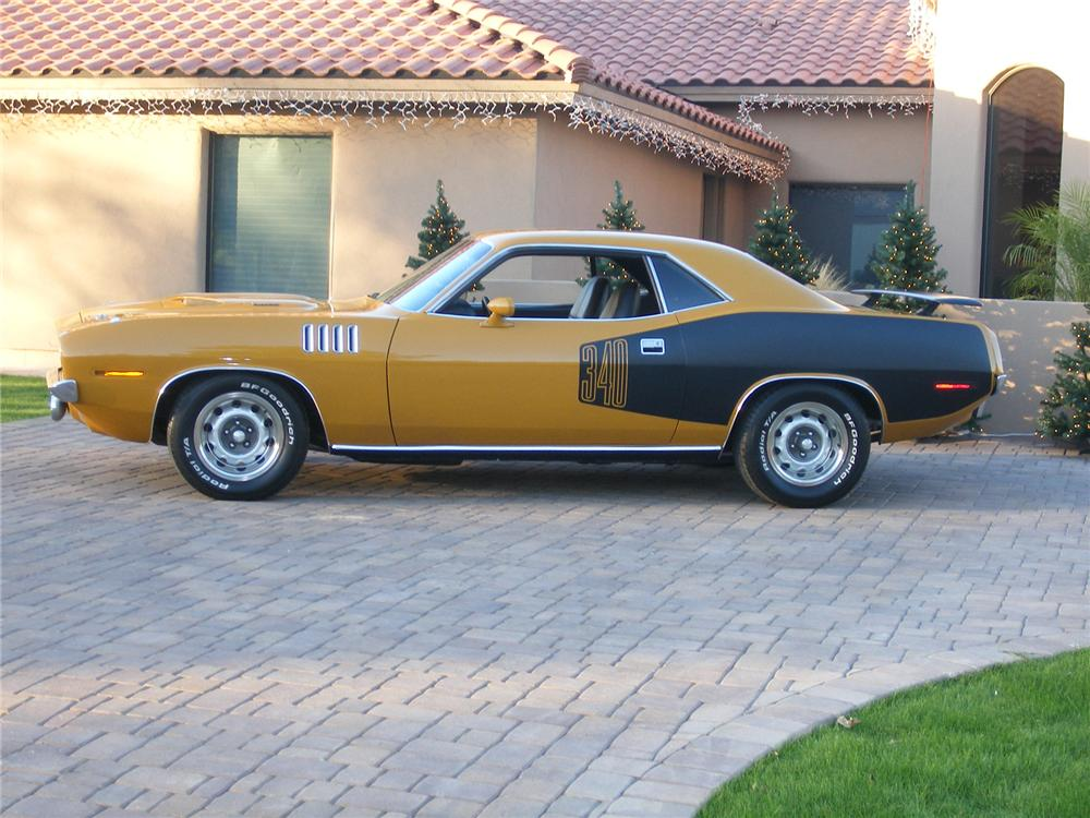 1971 PLYMOUTH CUDA 2 DOOR HARDTOP - Side Profile - 71046