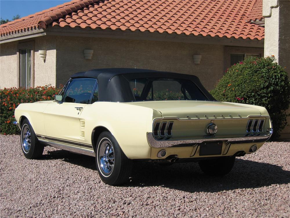 1967 FORD MUSTANG GTA CONVERTIBLE - Rear 3/4 - 71048