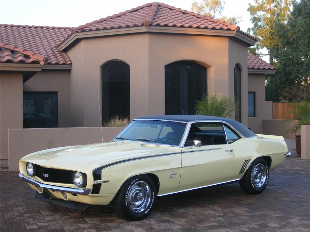 1969 CHEVROLET CAMARO SS COUPE - Front 3/4 - 71050