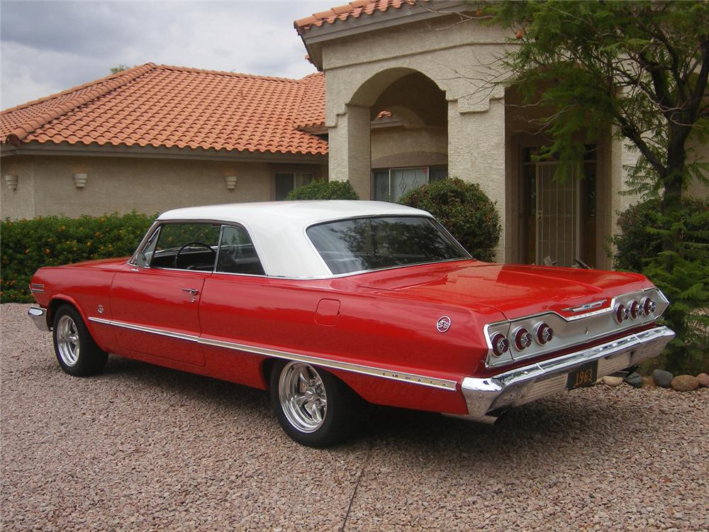 1963 CHEVROLET IMPALA SS 2 DOOR SPORT COUPE - Rear 3/4 - 71051