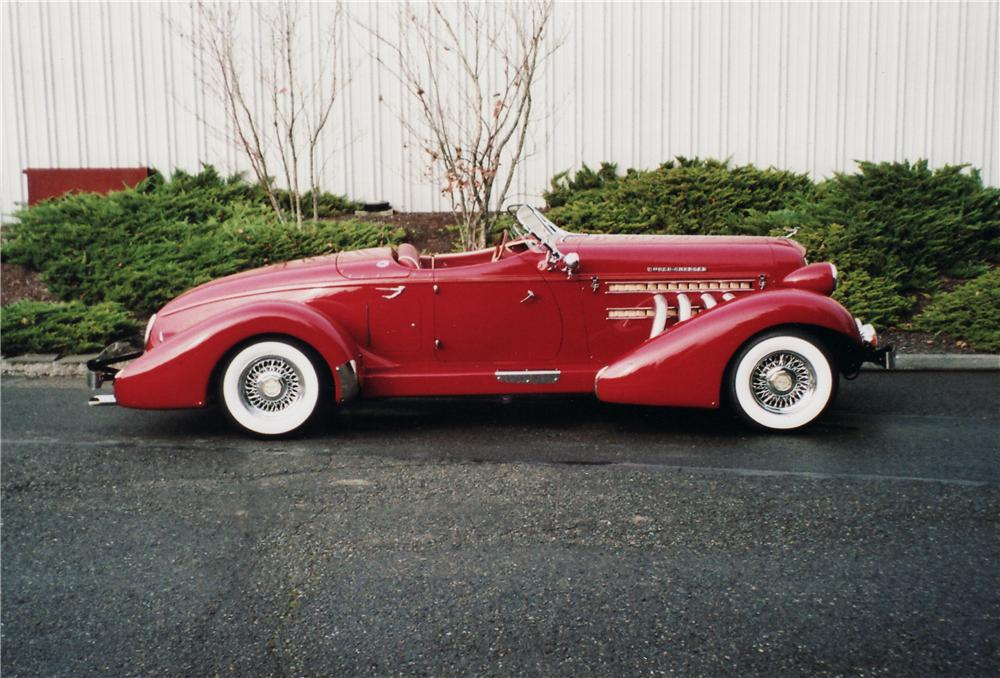 1935 AUBURN BOATTAIL SPEEDSTER RE-CREATION - Side Profile - 71057