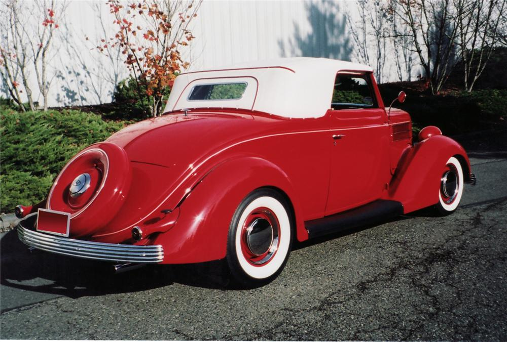 1936 FORD DELUXE CABRIOLET HOT ROD - Rear 3/4 - 71059