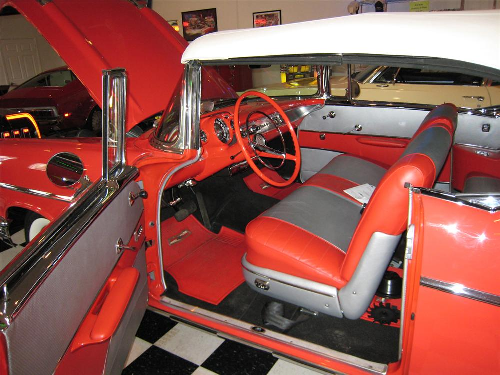 1957 CHEVROLET BEL AIR FI CONVERTIBLE - Interior - 71062