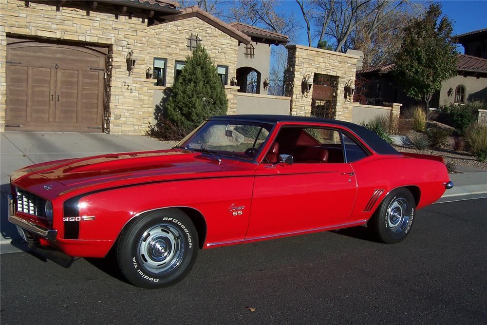1969 CHEVROLET CAMARO COUPE - Side Profile - 71076