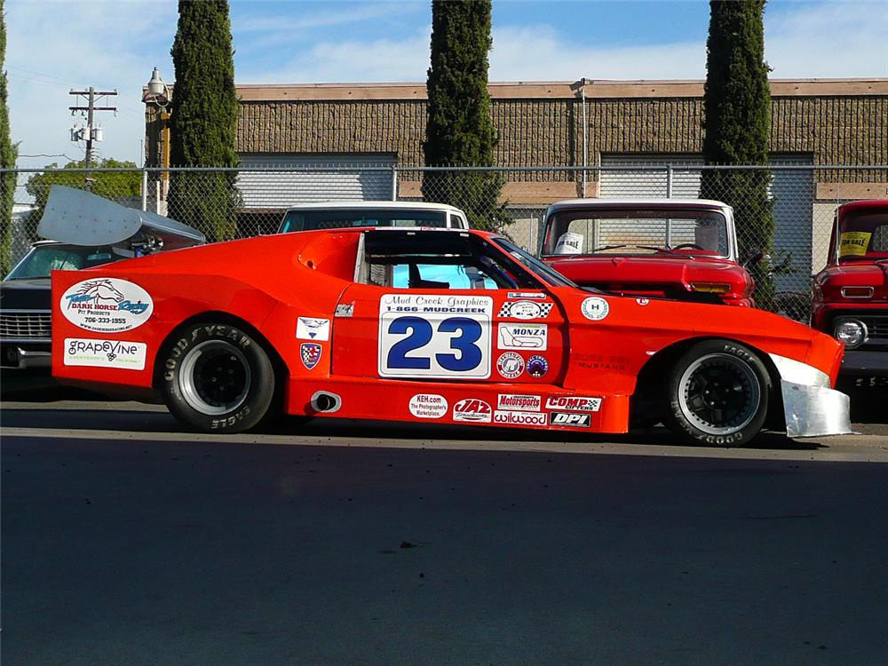 1972 FORD MUSTANG MACH 1 RACE CAR - Side Profile - 71079