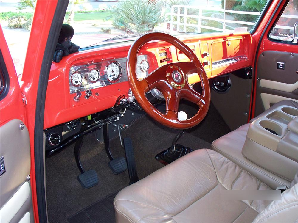 1966 CHEVROLET C-10 STEP-SIDE CUSTOM PICKUP - Interior - 71082