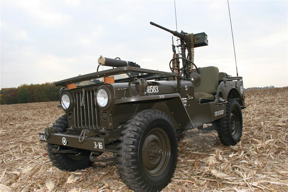 1951 WILLYS JEEP CONVERTIBLE - Front 3/4 - 71103
