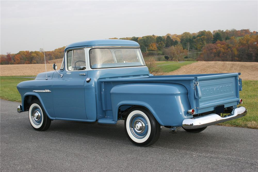 1955 CHEVROLET 3100 PICKUP - Rear 3/4 - 71108