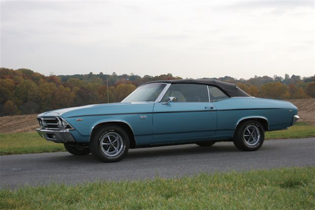 1969 CHEVROLET CHEVELLE SS 396 CONVERTIBLE - Side Profile - 71109