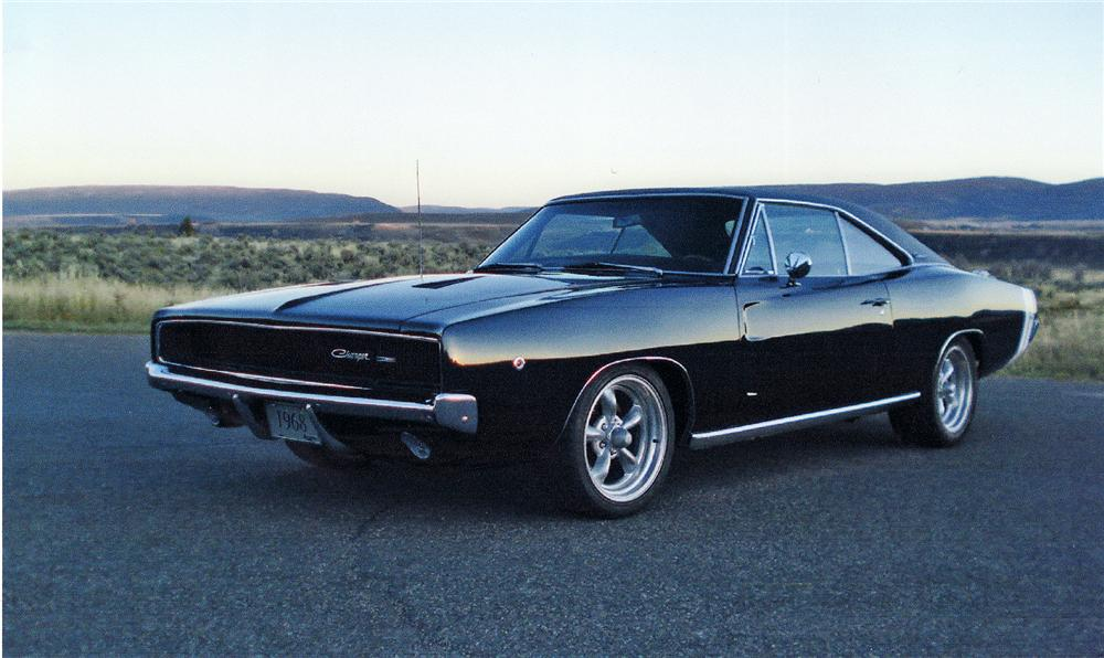 1968 DODGE CHARGER COUPE - Front 3/4 - 71111