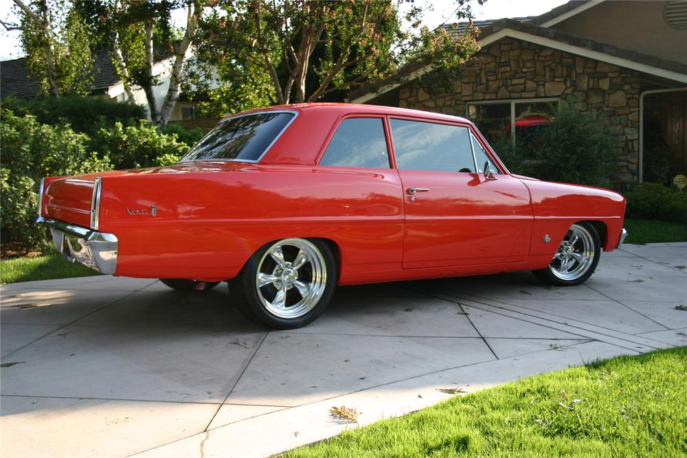 1966 CHEVROLET NOVA CUSTOM 2 DOOR HARDTOP - Side Profile - 71124