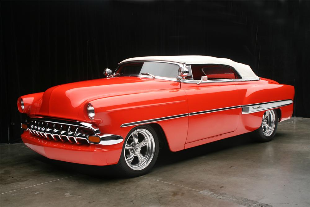 1954 CHEVROLET BEL AIR CUSTOM CONVERTIBLE - Front 3/4 - 71133