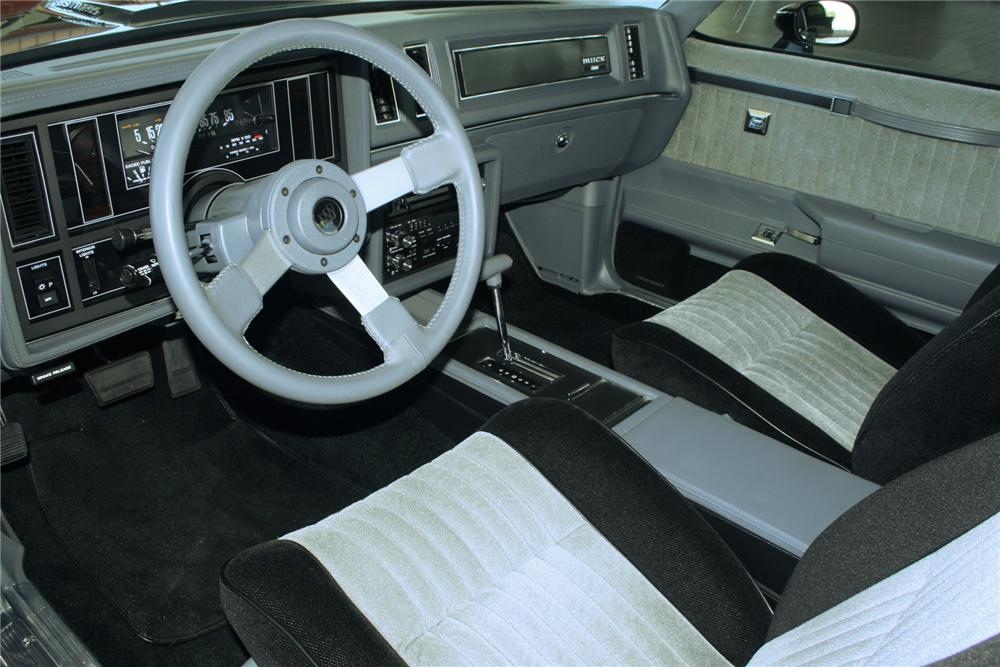 1987 BUICK REGAL GRAND NATIONAL COUPE - Interior - 71135