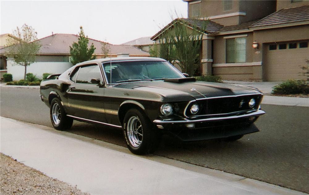 1969 FORD MUSTANG MACH 1 FASTBACK - Front 3/4 - 71173
