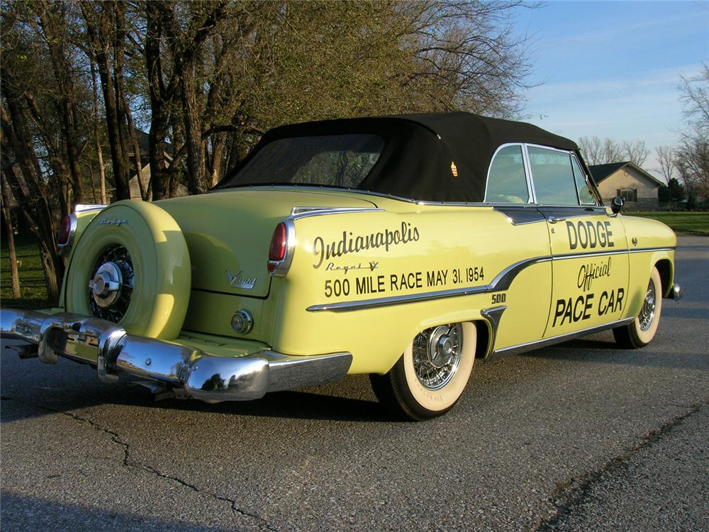 1954 DODGE ROYAL INDY 500 PACE CAR EDITION - Rear 3/4 - 71174