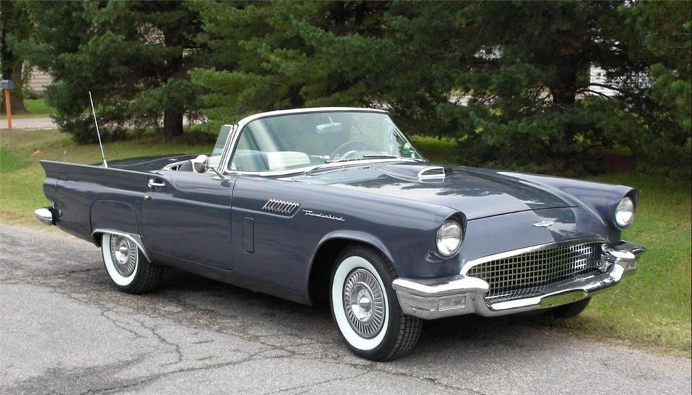 1957 FORD THUNDERBIRD CONVERTIBLE - Front 3/4 - 71207