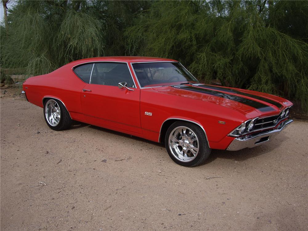 1969 CHEVROLET CHEVELLE SS CUSTOM COUPE - Side Profile - 71214