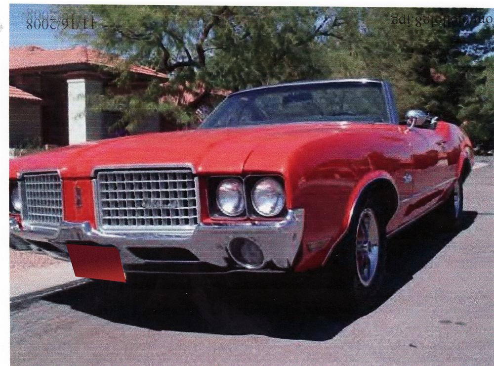 1972 OLDSMOBILE CUTLASS CONVERTIBLE - Front 3/4 - 71217