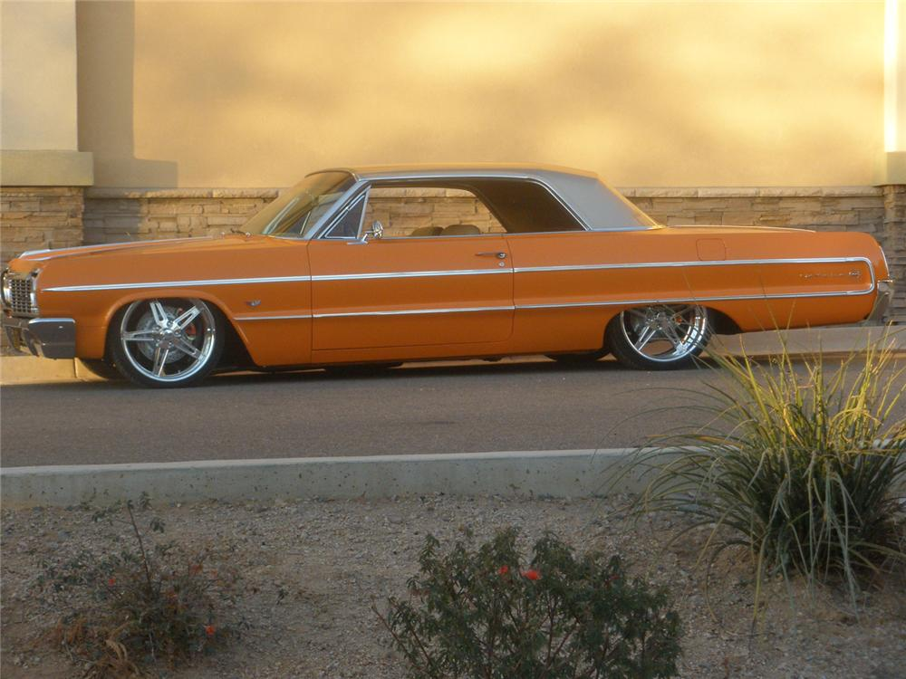 1964 CHEVROLET IMPALA CUSTOM 2 DOOR HARDTOP - Side Profile - 71221