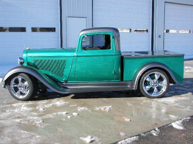 1934 DODGE CUSTOM PICKUP - Side Profile - 71236